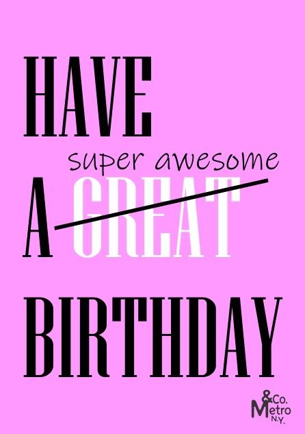 Vale Presente Happy Birthday  - Metro & Co.