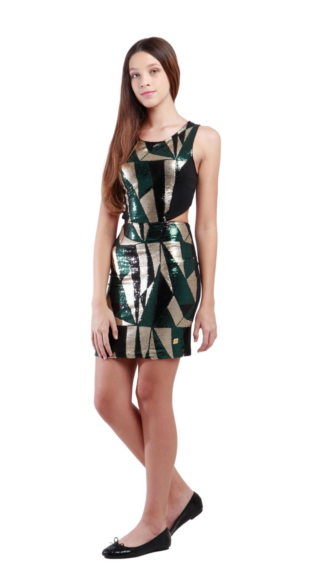 Vestido Curto Aliyah  - Metro & Co.