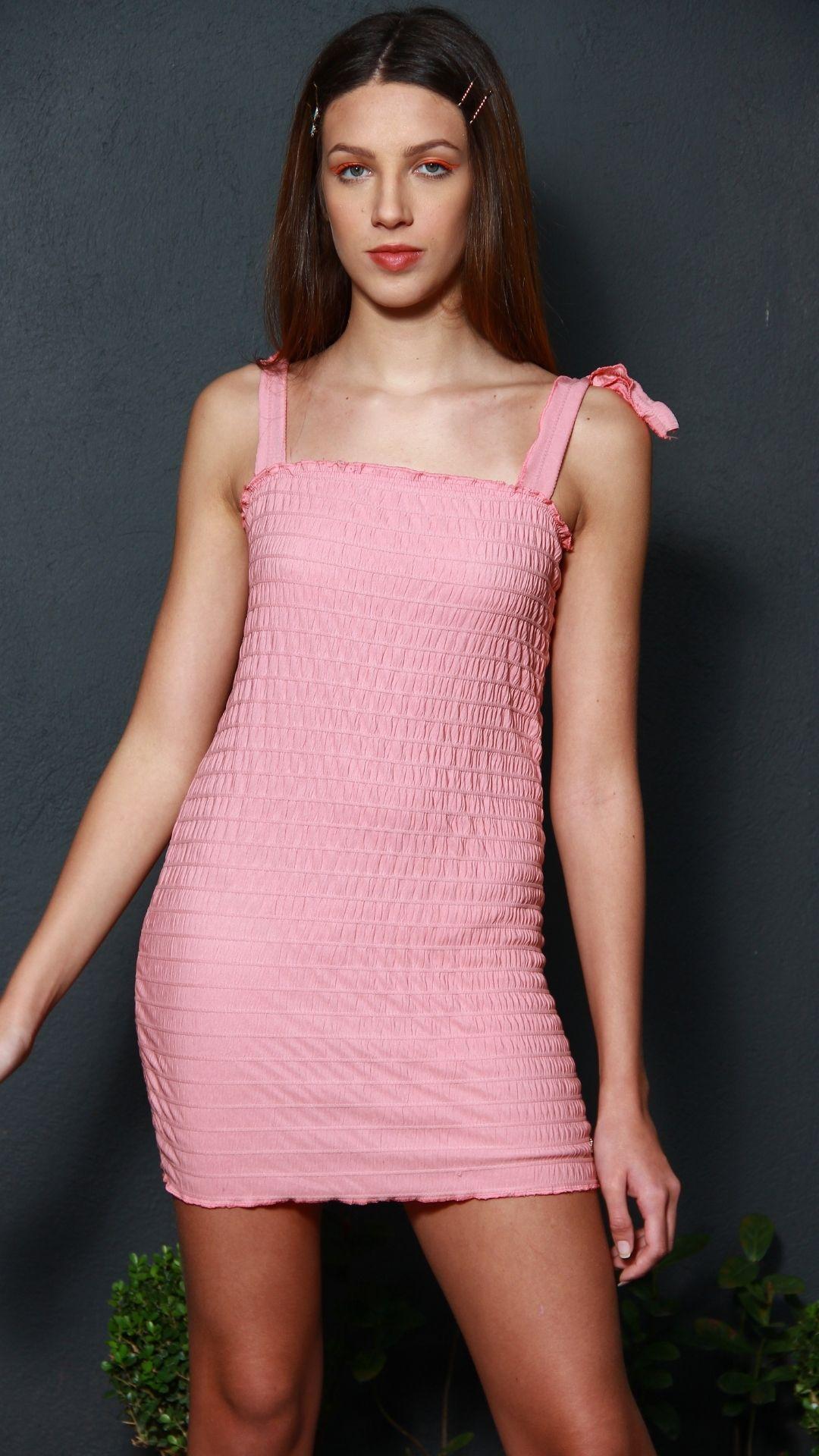 Vestido Anarruga Light Pink  - Metro & Co.