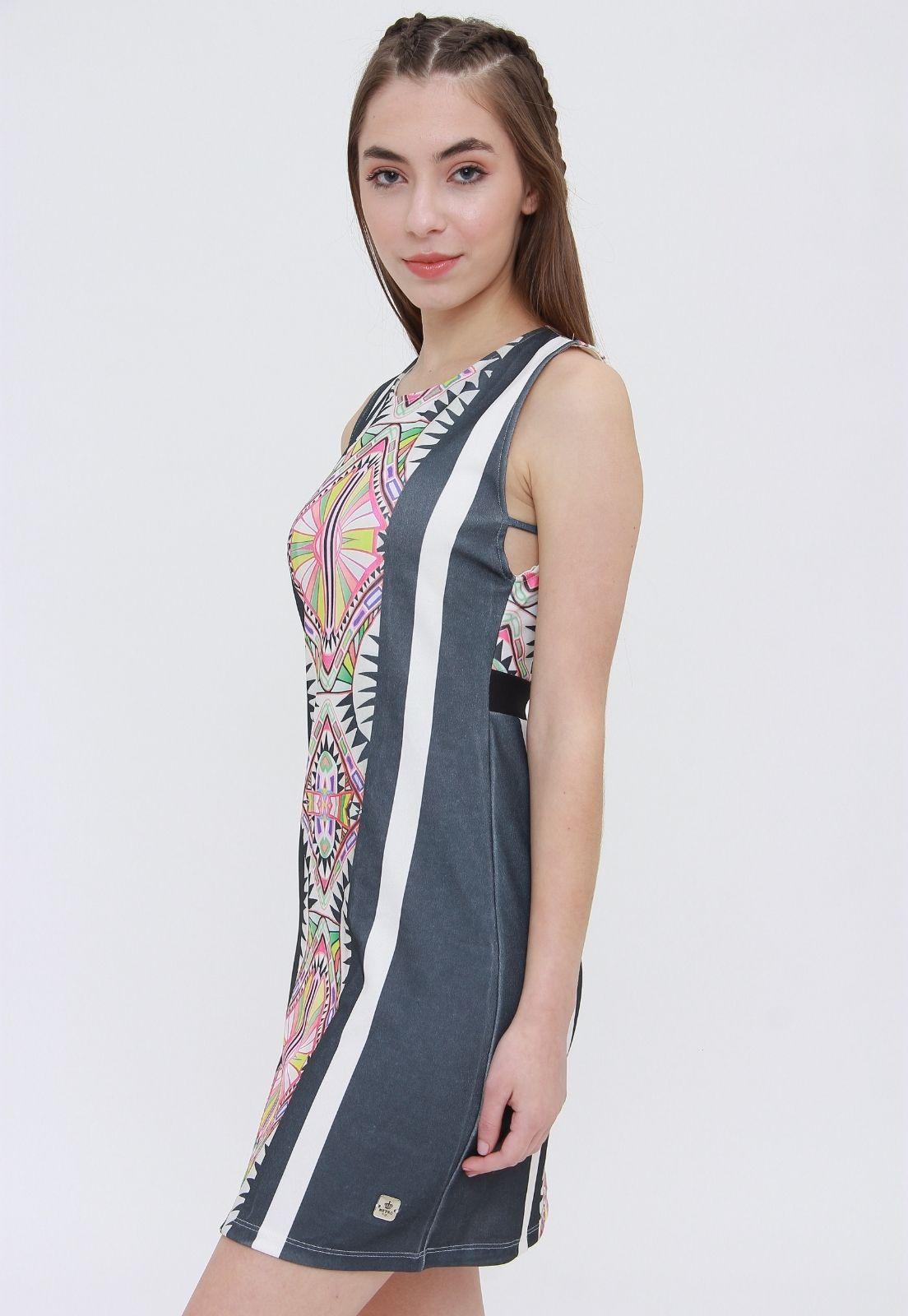 Vestido Curto Estampado Chinnah  - Metro & Co.