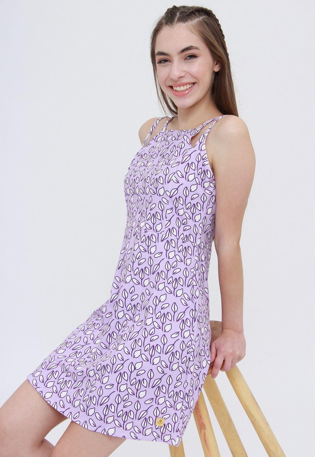 Vestido Curto Estampado Petals  - Metro & Co.