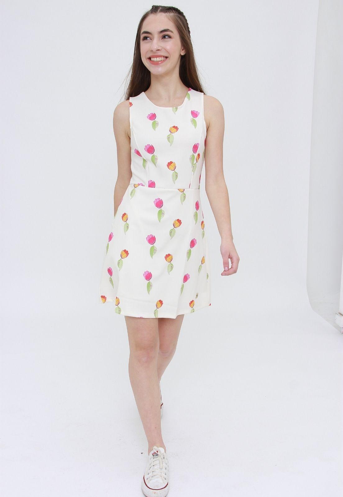 Vestido Curto Wild Flowers  - Metro & Co.