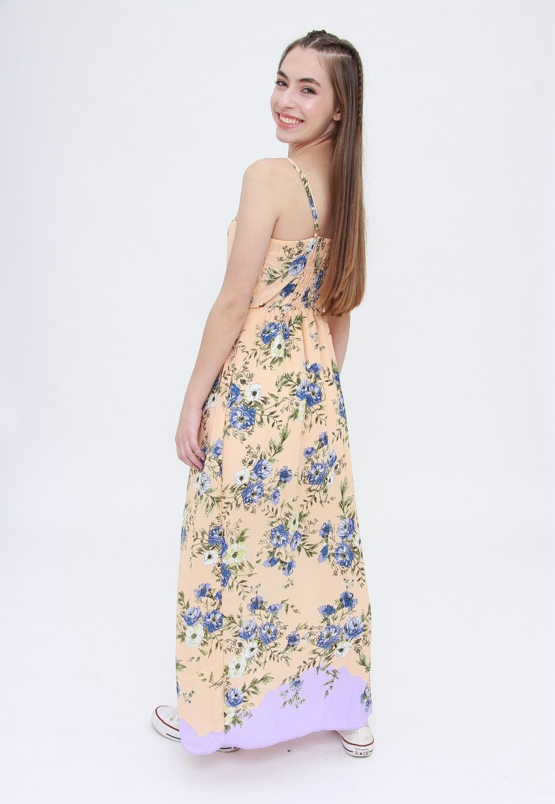 Vestido Longo Lavander Flowers  - Metro & Co.