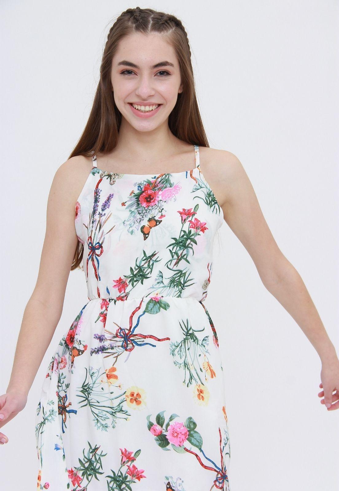 Vestido Longo Spring Flowers  - Metro & Co.
