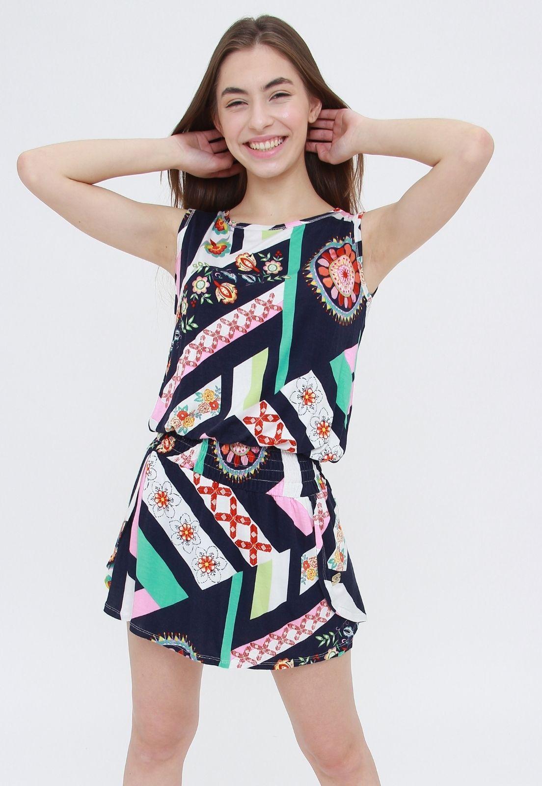 Vestido Milah Estampado  - Metro & Co.