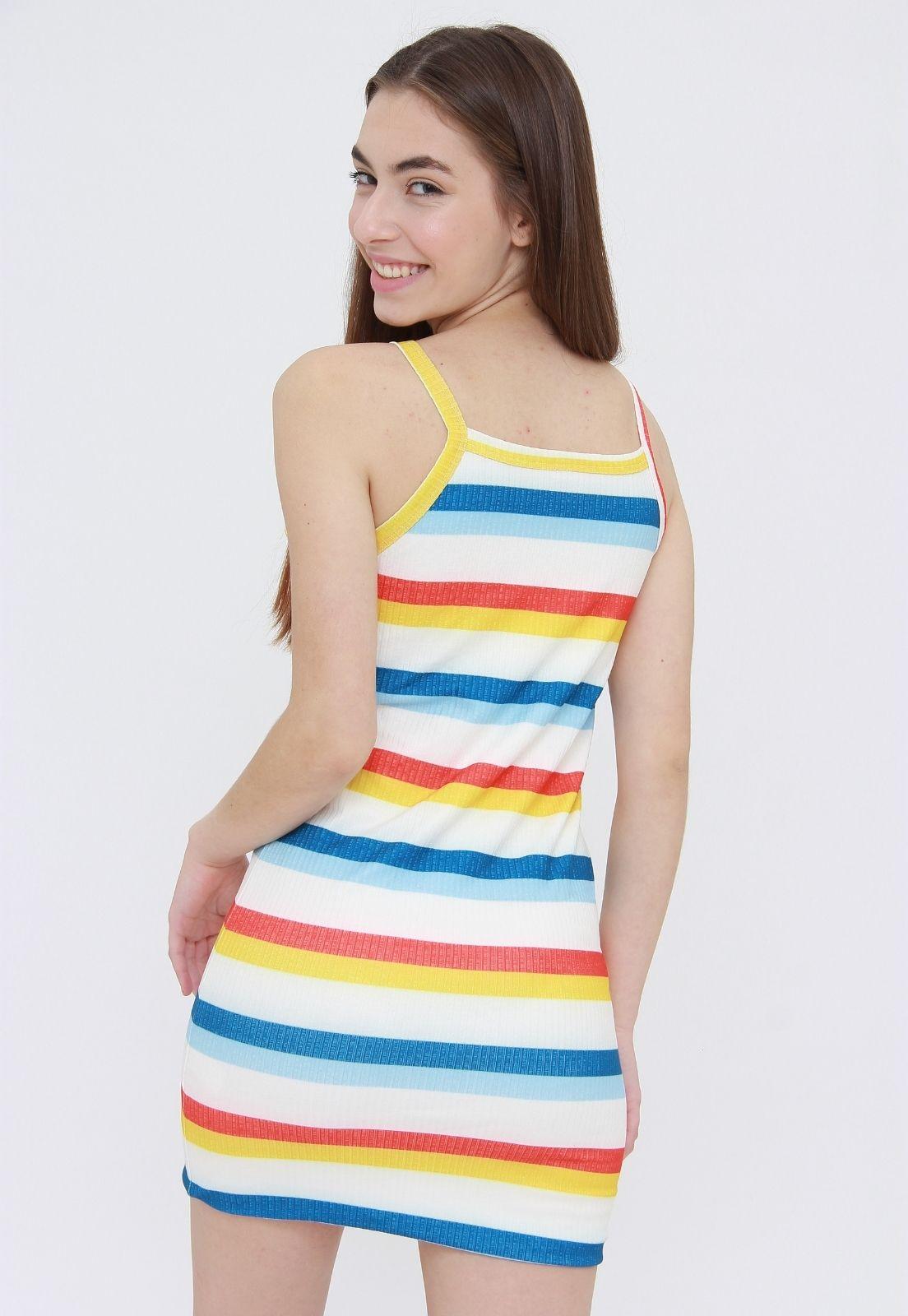 Vestido Ribbed  Colour Stripes  - Metro & Co.