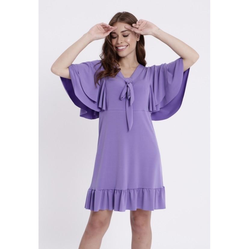 Vestido Sevilha Lavanda  - Metro & Co.