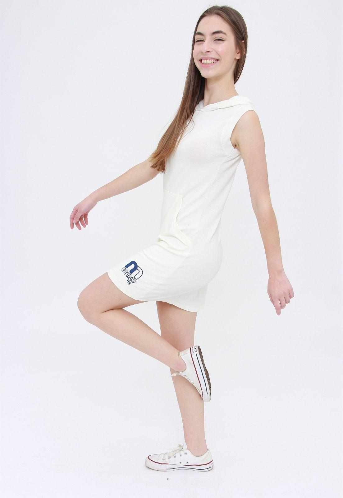 Vestido Tee Capuz  - Metro & Co.