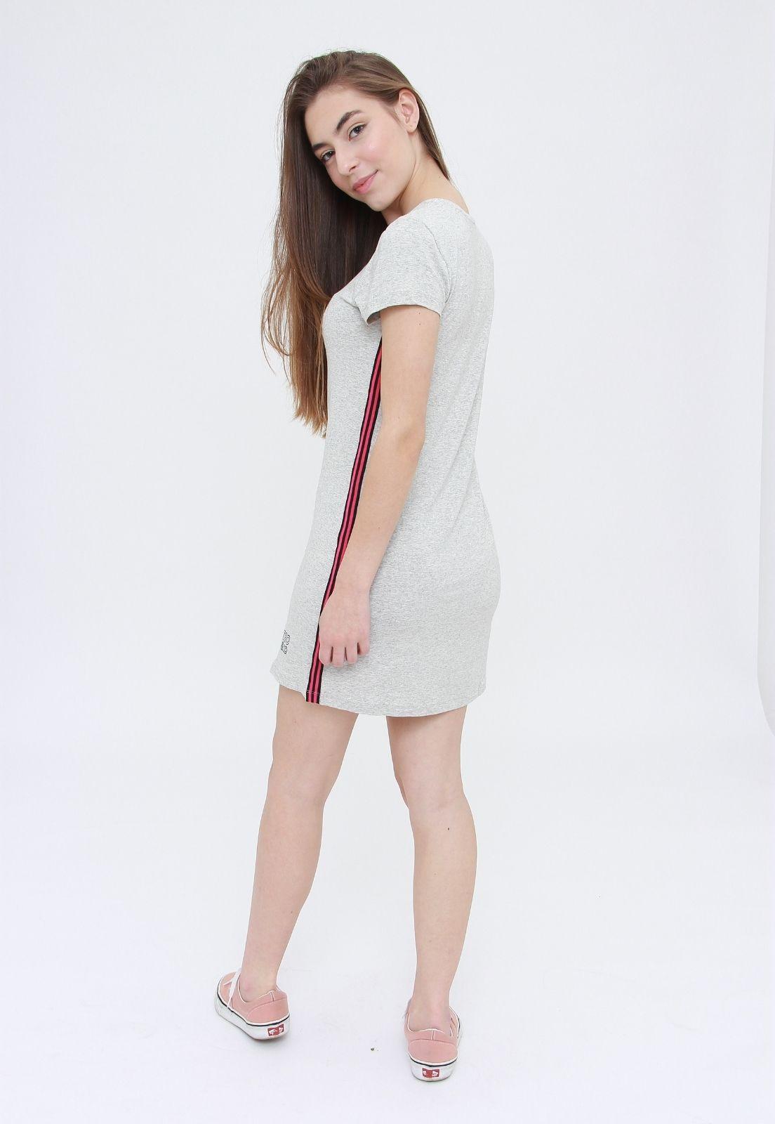 Vestido Tee Cinza  - Metro & Co.