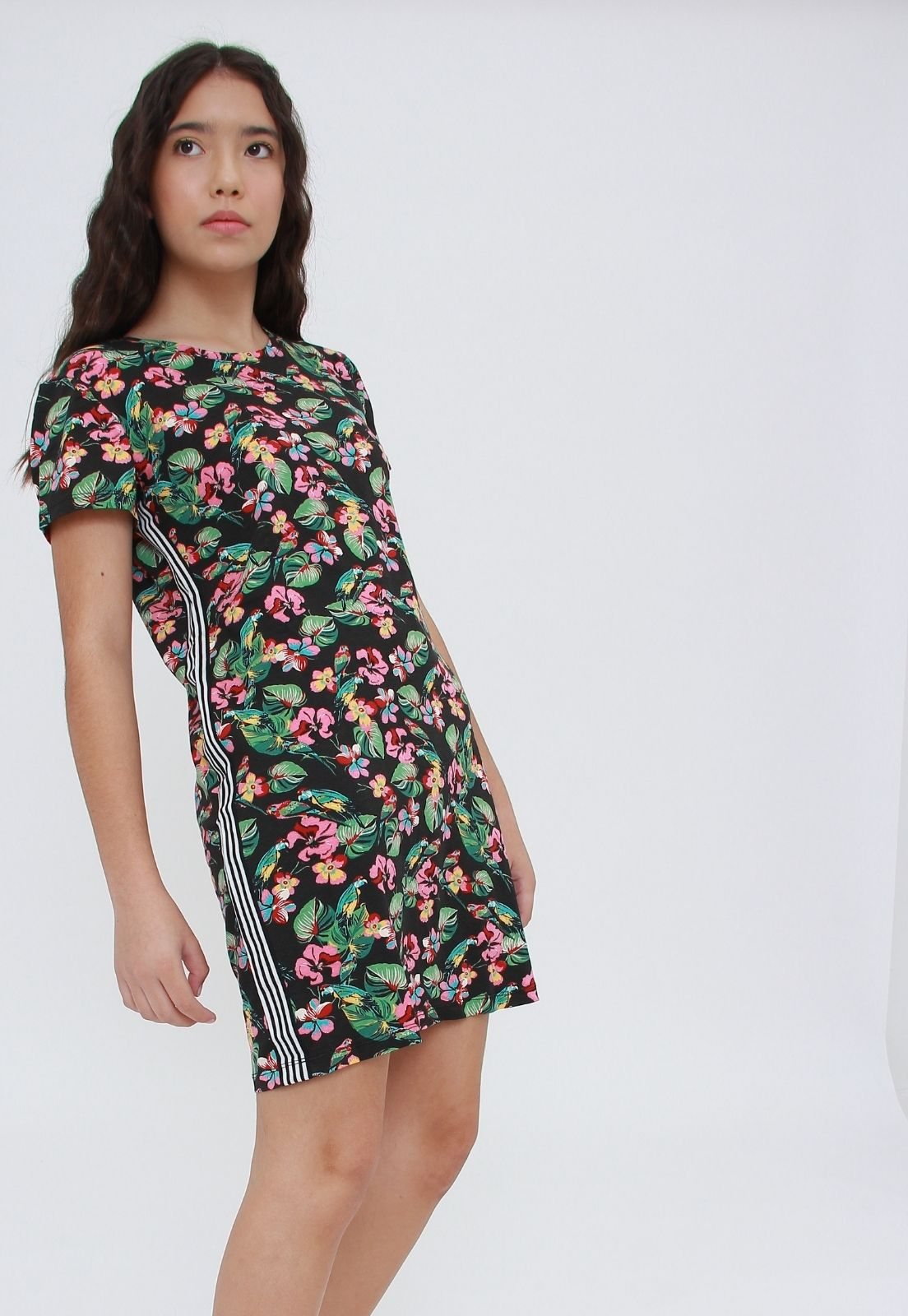 Vestido Tee Estampado Preto  - Metro & Co.