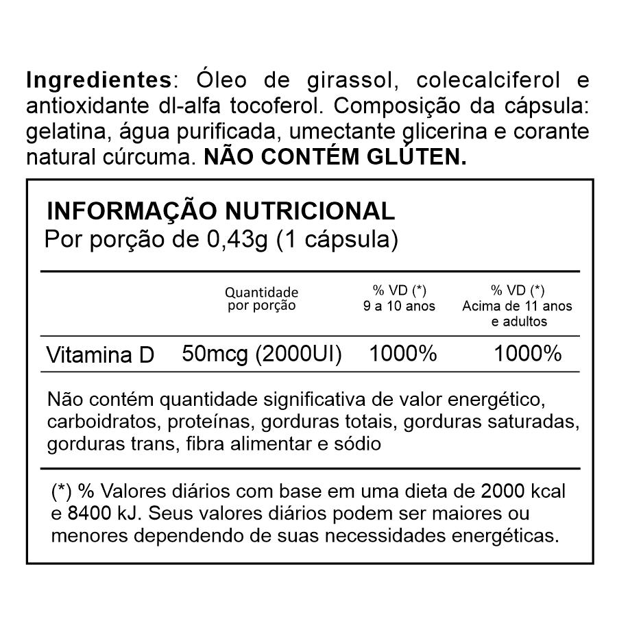 Vitamina D 2.000UI - 30 cápsulas