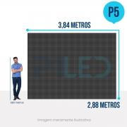 Painel de LED para Construtoras 3,84 x 2,88 - Telão P5 Outdoor