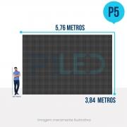 Painel de LED para Construtoras 5,76 x 3,84 - Telão P5 Outdoor