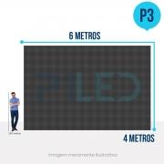 Painel de LED para Fachadas 6x4 - Telão P3 Outdoor