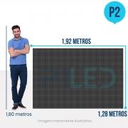 Painel de LED para Lojas e Comércios 1,92 x 1,28 - Telão P2.5 Indoor