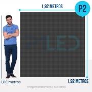 Painel de LED para Lojas e Comércios 1,92 x 1,92 - Telão P2.5 Indoor