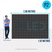 Painel de LED para Lojas e Comércios 2,88 x 1,92 - Telão P2.9 Indoor