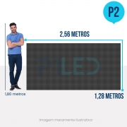Painel de LED para Padaria 2,56 x 1,28 -  Telão P2.5 Indoor