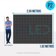 Painel de LED para Padaria 2,56 x 1,92 - Telão P2.5 Indoor