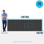 Painel de LED para Posto de Gasolina 3x1 - Telão P8 Outdoor