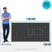 Painel de LED para Vitrine 2x1 - Telão P3 Outdoor