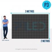 Painel de LED para Vitrine 3x2 - Telão P3 Outdoor