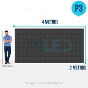 Painel de LED para Vitrine 4x2 - Telão P3 Outdoor