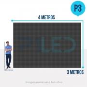 Painel de LED para Vitrine 4x3 - Telão P3 Outdoor