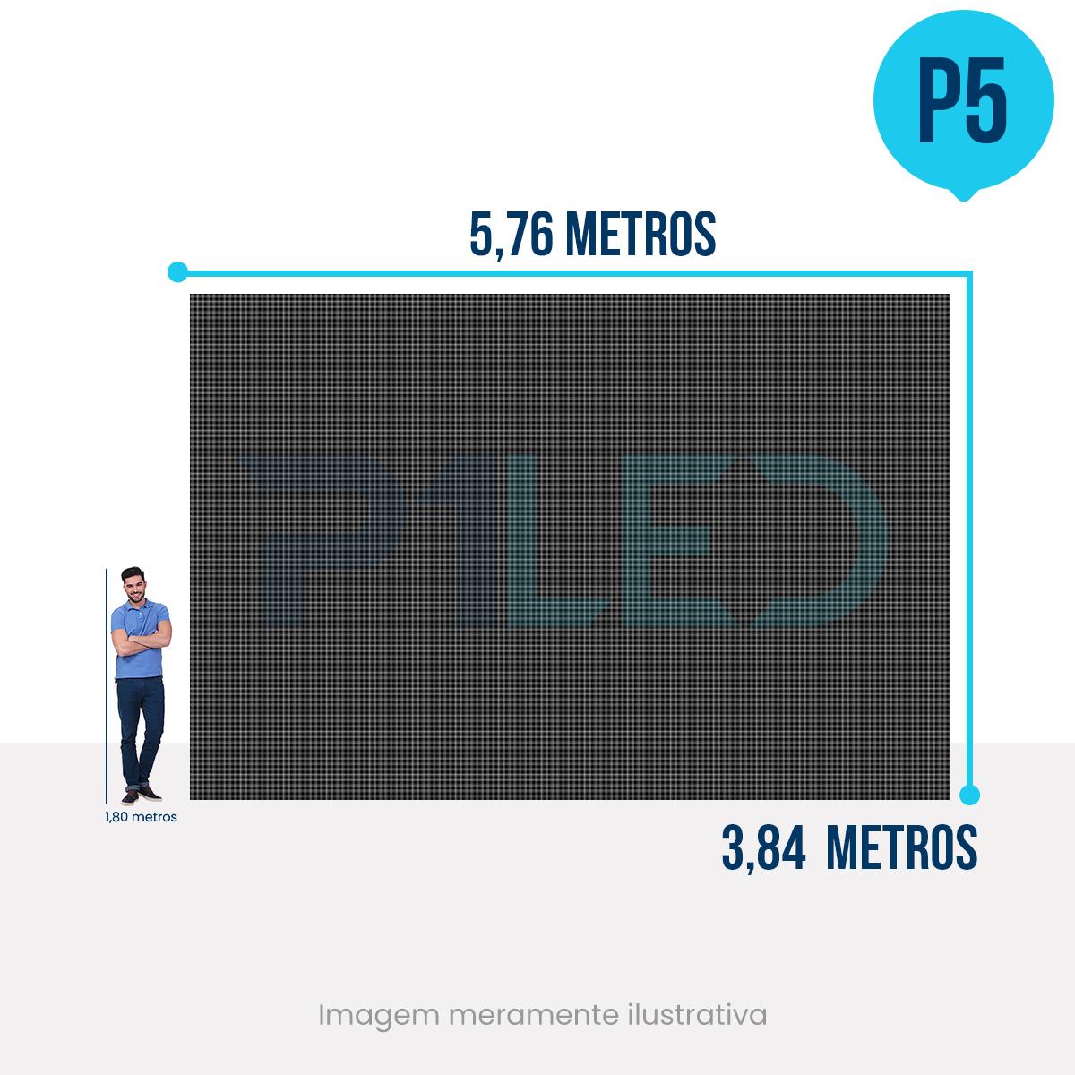 Painel de LED para Igreja 5,76 x 3,84 - Telão P5 Indoor  - Painel e Telão de LED - O Melhor Preço em Painel de LED | P1LED