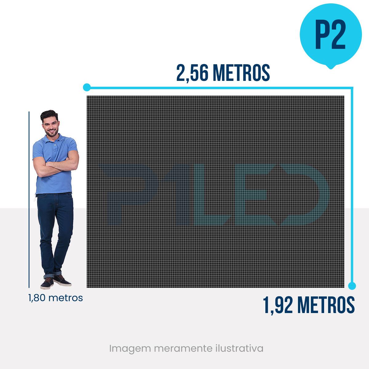 Painel de LED para Lojas e Comércios 2,56 x 1,92 - Telão P2.5 Indoor  - Painel e Telão de LED - O Melhor Preço em Painel de LED | P1LED