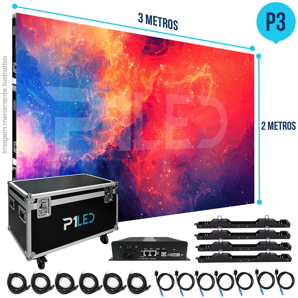 Painel de LED para Lojas e Comércios 3x2 - Telão P3 Indoor  - Painel e Telão de LED - O Melhor Preço em Painel de LED   P1LED