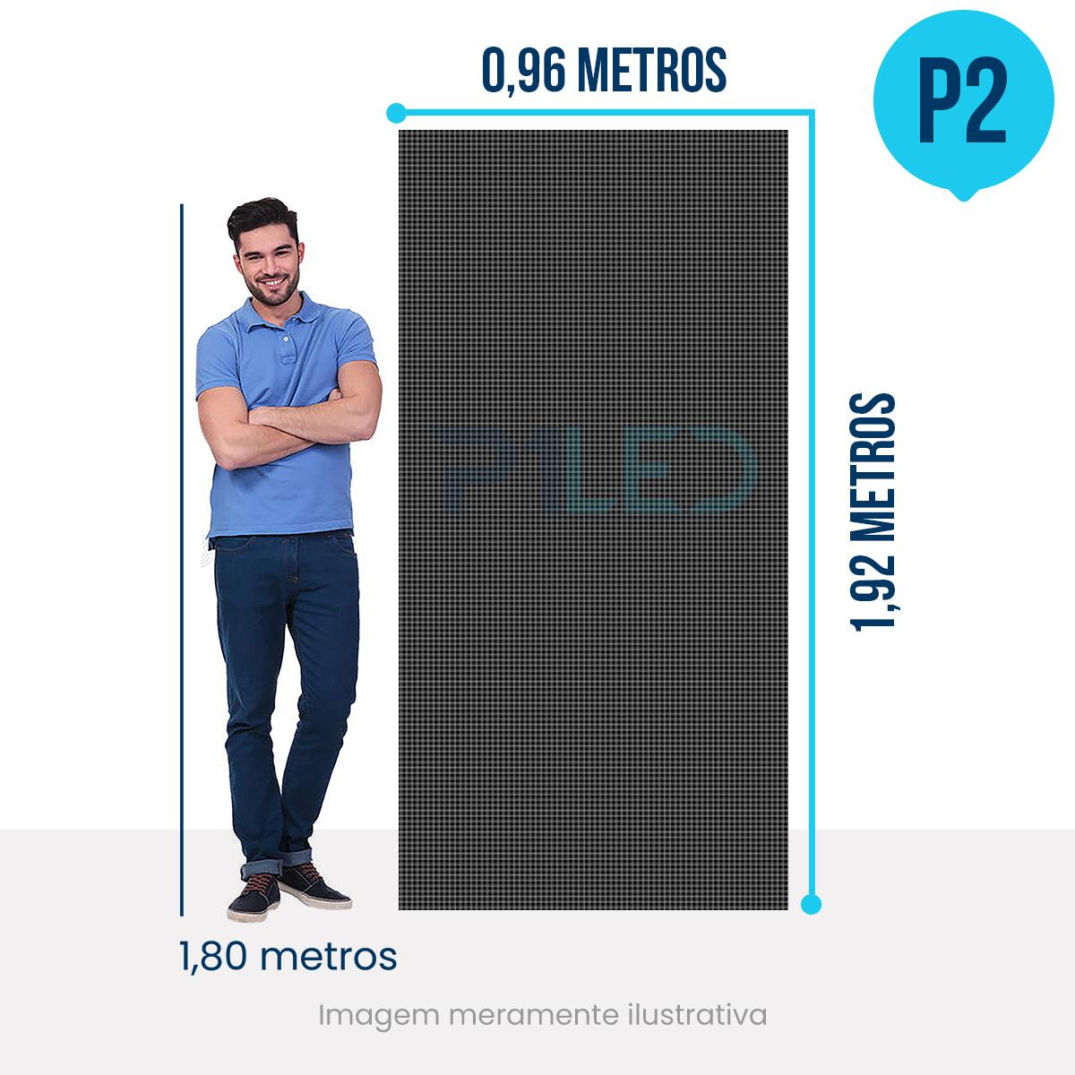 Painel de LED para Padaria 0,96 x 1,92 - Telão P2.9 Indoor  - Painel e Telão de LED - O Melhor Preço em Painel de LED   P1LED