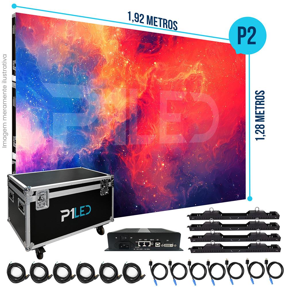 Painel de LED para Padaria 1,92 x 1,28 - Telão P2.5 Indoor  - Painel e Telão de LED - O Melhor Preço em Painel de LED | P1LED