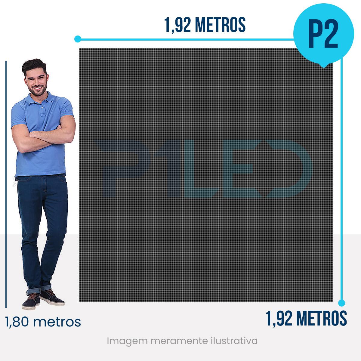 Painel de LED para Padaria 1,92 x 1,92  - Telão P2.5 Indoor  - Painel e Telão de LED - O Melhor Preço em Painel de LED | P1LED