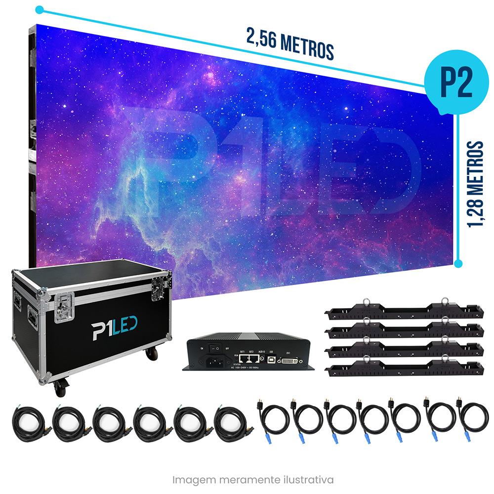 Painel de LED para Padaria 2,56 x 1,28 -  Telão P2.5 Indoor  - Painel e Telão de LED - O Melhor Preço em Painel de LED   P1LED