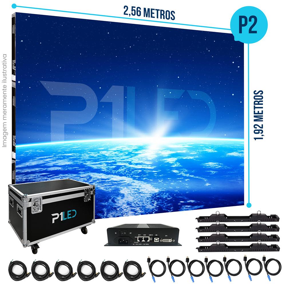 Painel de LED para Padaria 2,56 x 1,92 - Telão P2.5 Indoor  - Painel e Telão de LED - O Melhor Preço em Painel de LED   P1LED