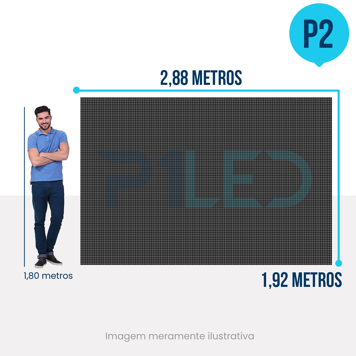 Painel de LED para Padaria 2,88 x 1,92 - Telão P2.9 Indoor  - Painel e Telão de LED - O Melhor Preço em Painel de LED | P1LED
