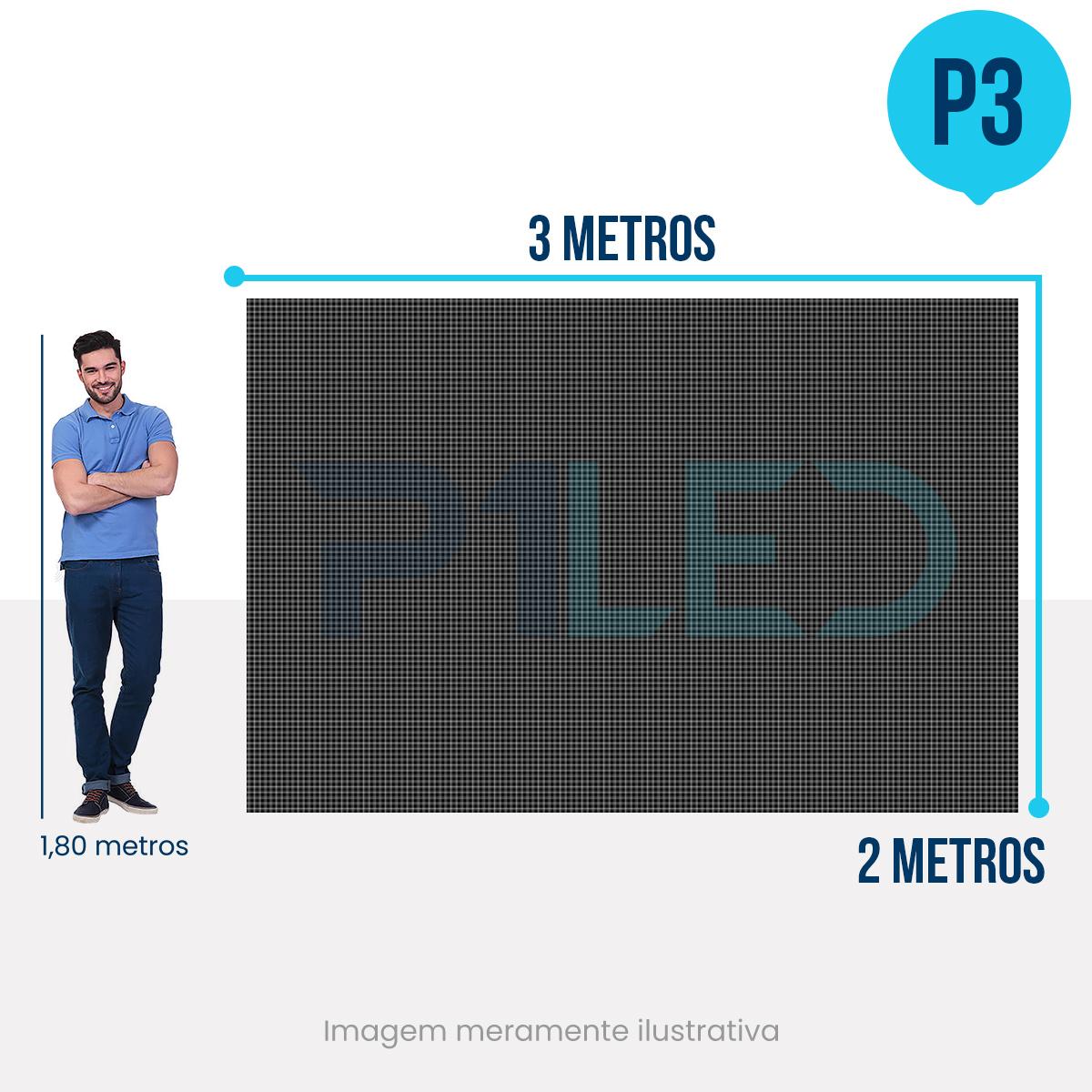 Painel de LED para Padaria 3x2 - Telão P3 Indoor  - Painel e Telão de LED - O Melhor Preço em Painel de LED | P1LED