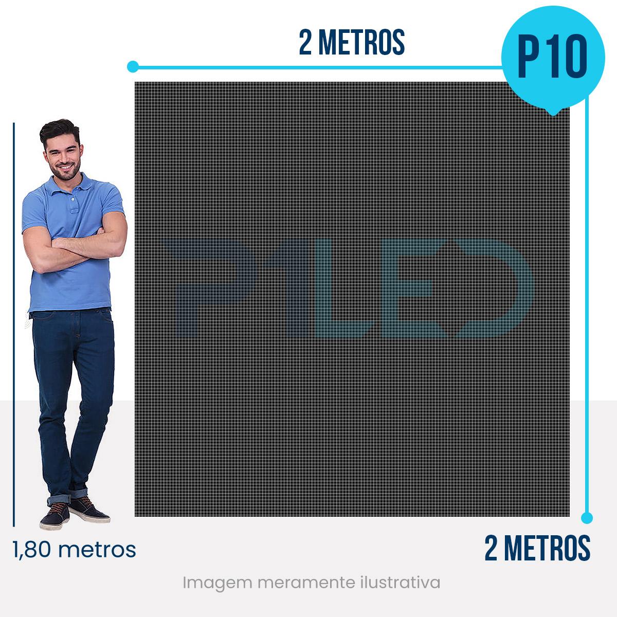 Painel de LED para Posto de Gasolina 2x2 - Telão P10 Outdoor  - Painel e Telão de LED - O Melhor Preço em Painel de LED | P1LED