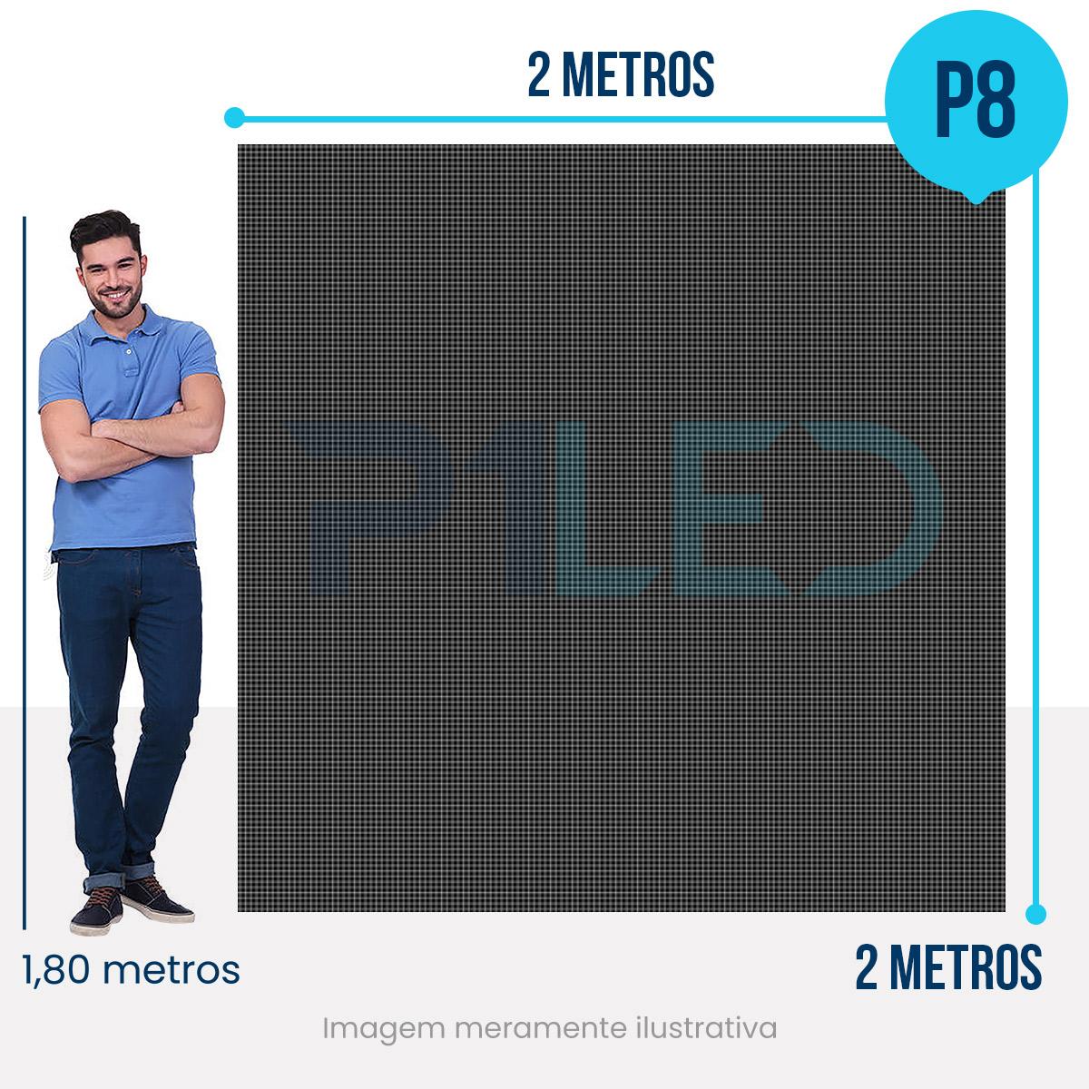 Painel de LED para Posto de Gasolina 2x2 - Telão P6 Outdoor  - Painel e Telão de LED - O Melhor Preço em Painel de LED | P1LED