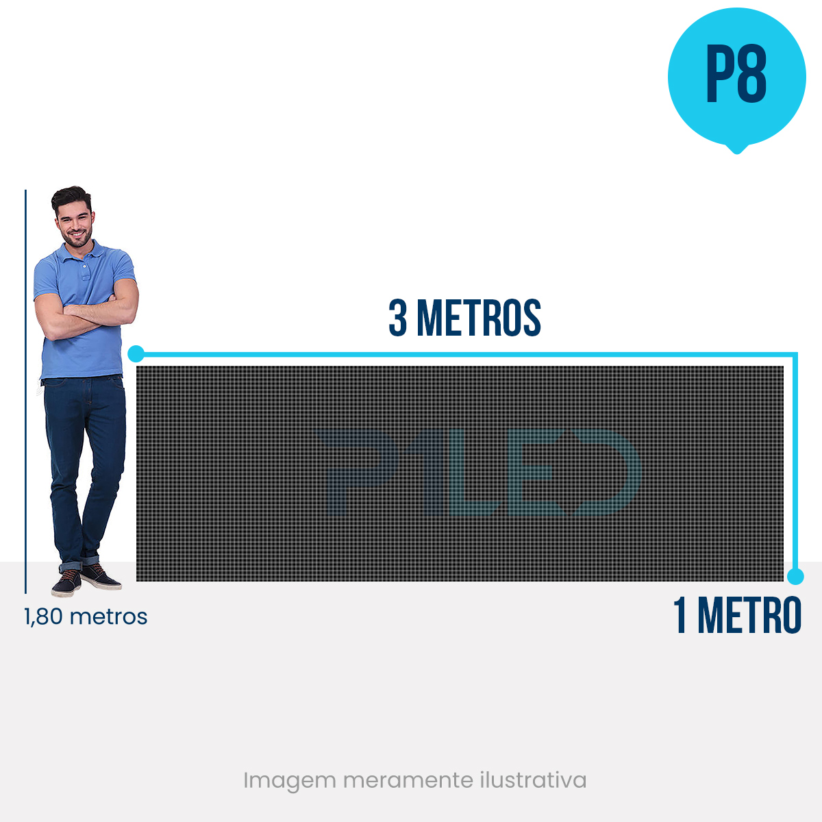 Painel de LED para Posto de Gasolina 3x1 - Telão P8 Outdoor  - Painel e Telão de LED - O Melhor Preço em Painel de LED   P1LED