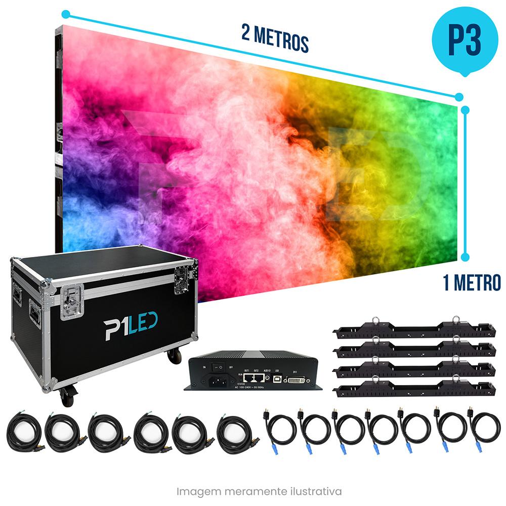 Painel de LED para Vitrine 2x1 - Telão P3 Outdoor  - Painel e Telão de LED - O Melhor Preço em Painel de LED | P1LED