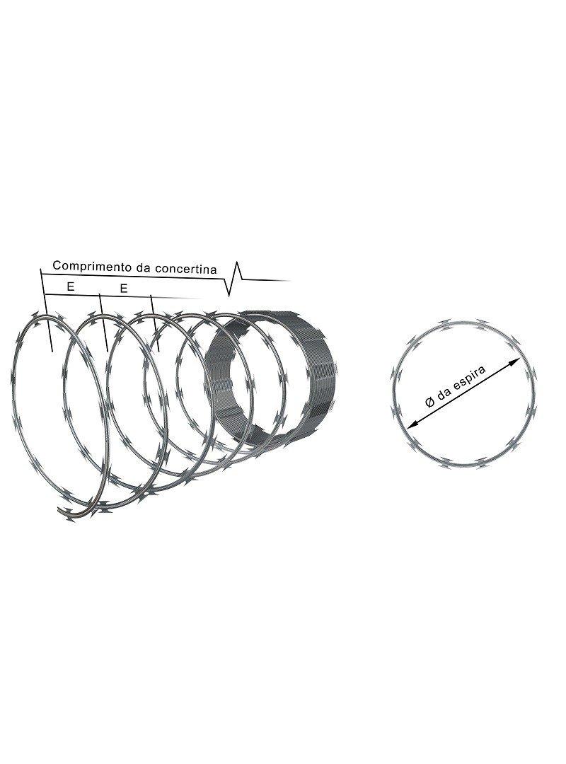 CONCERTINA SIMPLES 300 mm