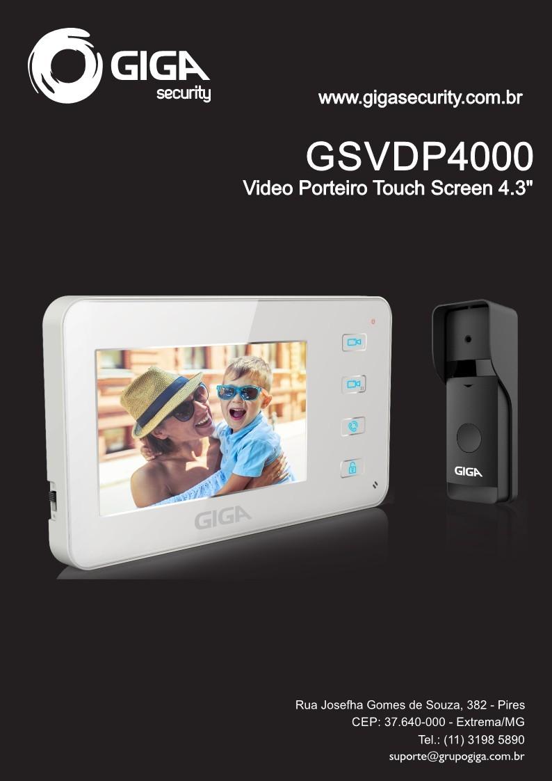 """KIT VIDEO PORTEIRO 4.3"""" - GSVDP4000"""