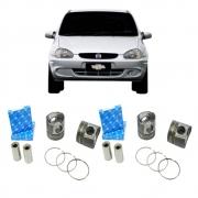 Kit 4 Pistão e Anéis Corsa 1.0 MPFI Gasolina 98 a 2003 0.50