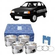Kit 4 Pistão e Anéis Kadett 2.0 Gasolina 92 a 97 - 0.50