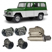 Kit Completo Cilindro Mestre + cilindros roda Willys Rural
