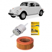 Kit completo filtros Fusca 1200/1300/1500 Carburador Simples