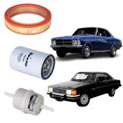 Kit Revisão Filtros Opala e Caravan 4.1 6C até 1989 Gasolina
