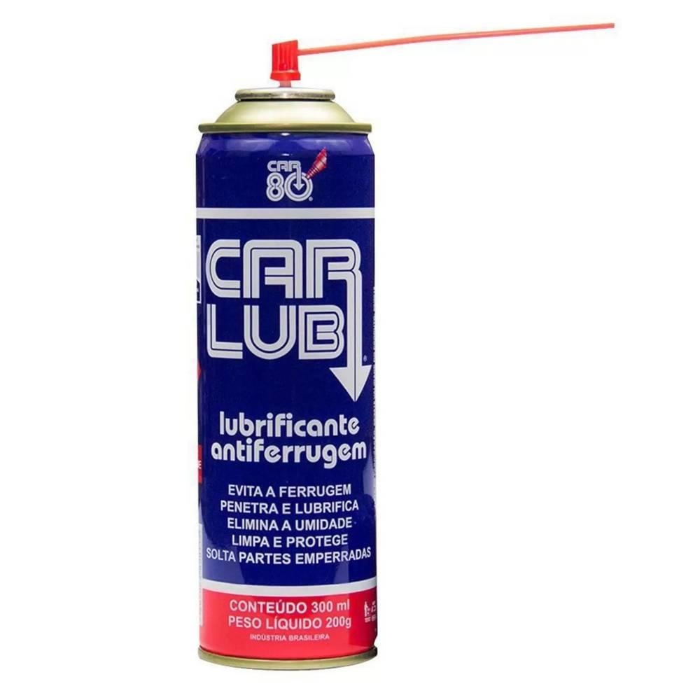 6 Spray Anti Ferrugem Desengripante Anticorrosivo CarLub